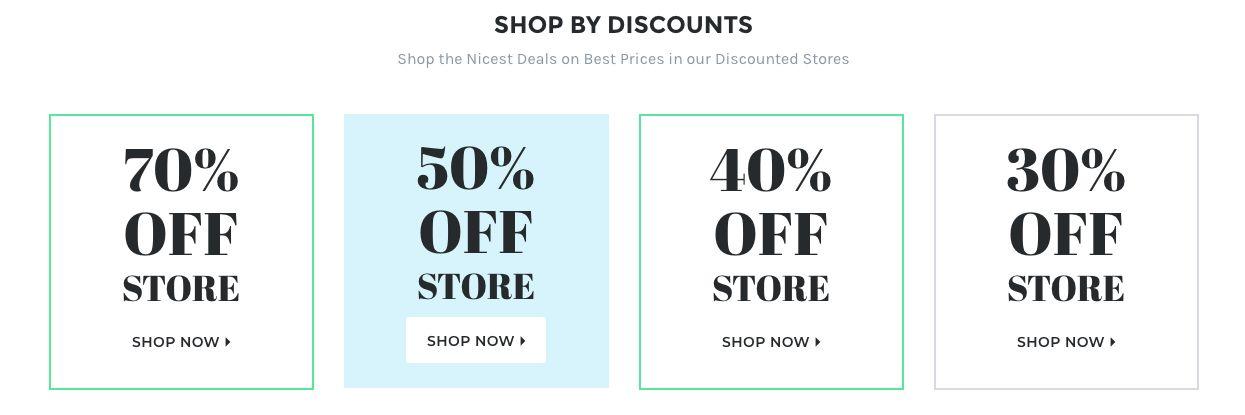 Discounts - Shop